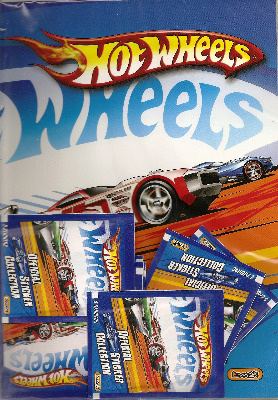 Hot Wheels - Official Sticker Collection - Album Plus 8 Packets Of Stickers