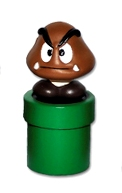 Super Mario - Goomba On Pipe - Cake Topper / Decoration - NEW