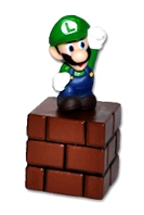Super Mario - Luigi On Brick Block - Cake Topper / Decoration - NEW
