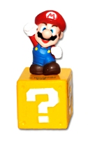 Super Mario - Mario On Question Block - Cake Topper / Decoration - NEW