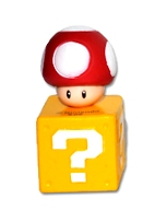 Super Mario - Mushroom On Question Block - Cake Topper / Decoration - NEW