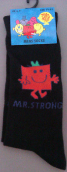 Mr Men - Mr Strong Men's Socks - UK 6-11 - NEW