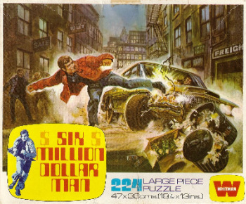 Six Million Dollar Man Jigsaw Puzzle - Car Attack - 224 Pieces - 1975