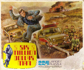 Six Million Dollar Man Jigsaw Puzzle - Escape - 224 Pieces - 1975