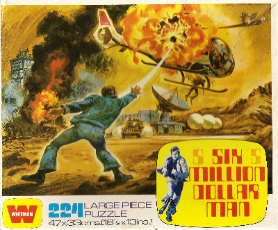 Six Million Dollar Man Jigsaw Puzzle - Helicopter Attack - 224 Pieces - 197