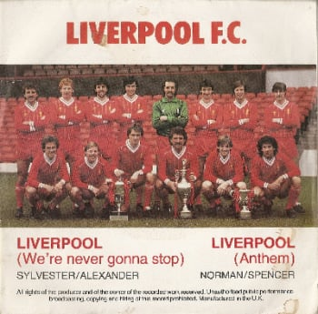 "Liverpool FC - We're Never Gonna Stop - Red Vinyl - 7"" Vinyl Single - 1983"