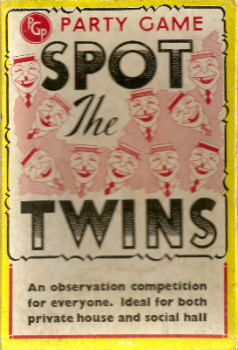 Spot The Twins - PGP Party Game No. 31 - 1950s