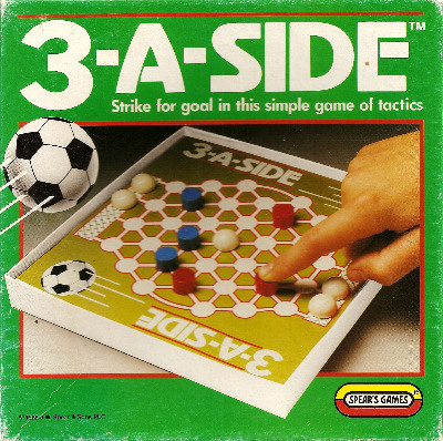 3-A-Side Football Board Game - Spear's Games - 1989