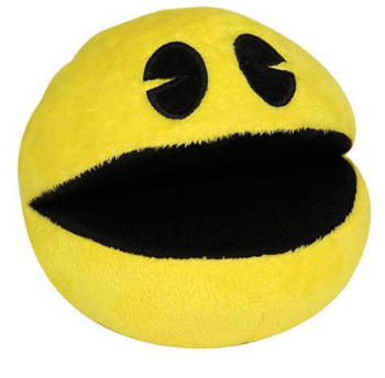 "Pac Man 4"" Plush Soft Toy With Sound - NEW"