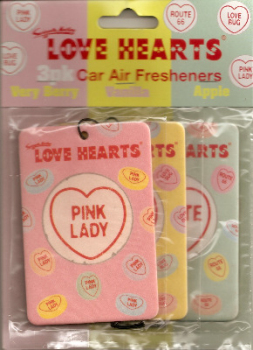 Swizzels Matlow - Love Hearts Car Air Freshener - Set Of 3 - NEW