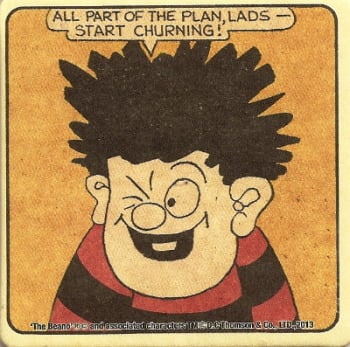 Beano - Dennis The Menace Double-Sided Vintage Coaster (Design 5) - NEW