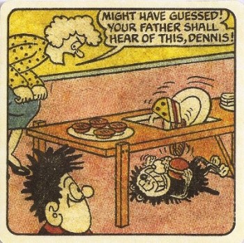Beano - Dennis The Menace Double-Sided Vintage Coaster (Design 7) - NEW