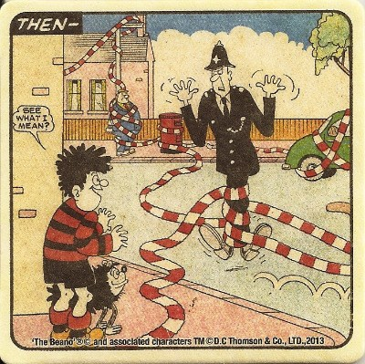 Beano - Dennis The Menace Double-Sided Vintage Coaster (Design 8) - NEW