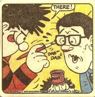Beano - Dennis The Menace Double-Sided Vintage Coaster (Design 9) - NEW
