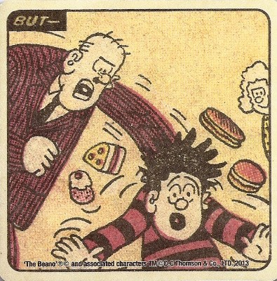 Beano - Dennis The Menace Double-Sided Vintage Coaster (Design 10) - NEW