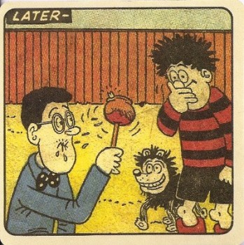 Beano - Dennis The Menace Double-Sided Vintage Coaster (Design 11) - NEW