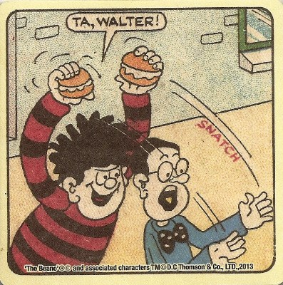 Beano - Dennis The Menace Double-Sided Vintage Coaster (Design 14) - NEW