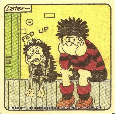 Beano - Dennis The Menace Double-Sided Vintage Coaster (Design 20) - NEW