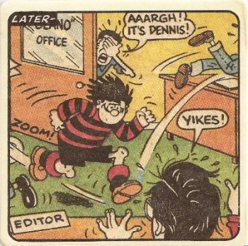 Beano - Dennis The Menace Double-Sided Vintage Coaster (Design 25) - NEW