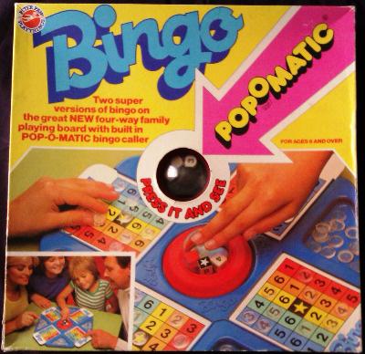 Bingo - Pop-O-Matic - Peter Pan Playthings - RARE