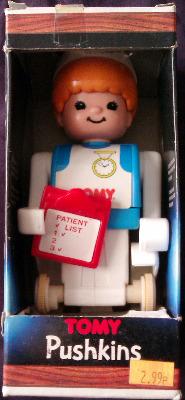 Tomytime - Pushkins : The Push 'n' Go People - Nurse - Tomy - 1976 - RARE