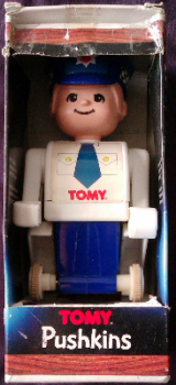 Tomytime - Pushkins : The Push 'n' Go People - Policeman - Tomy - 1976 - RARE