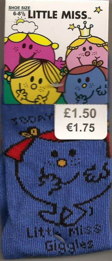 Little Miss Giggles Childrens Socks - NEW