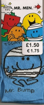 Mr Men - Mr Bump Childrens Socks - NEW