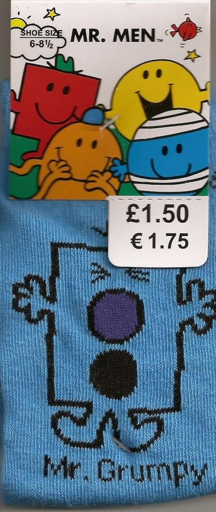 Mr Men - Mr Grumpy Childrens Socks - NEW