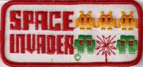 Space Invaders Sew-on Patch - NEW