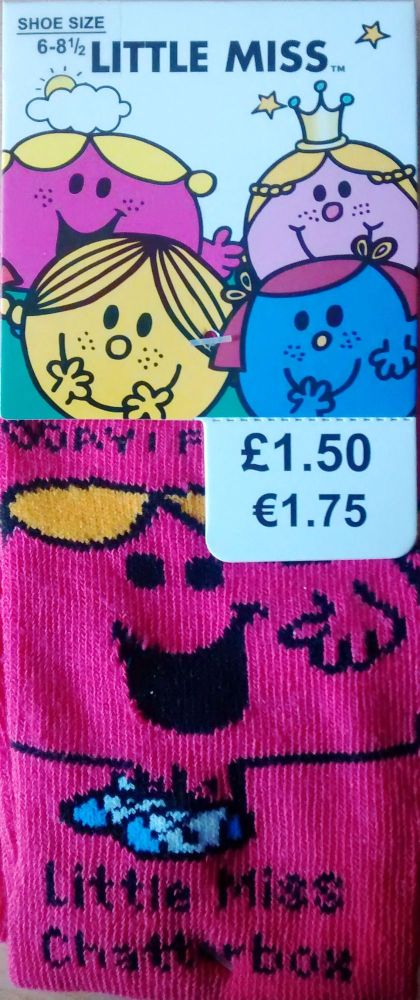 Little Miss Chatterbox Childrens Socks - NEW