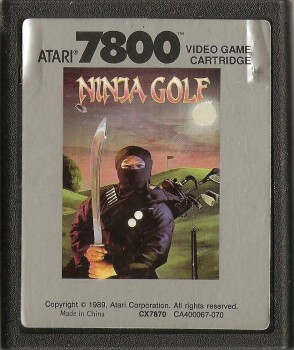 Ninja Golf - Atari 7800 - Cartridge Only - 1989