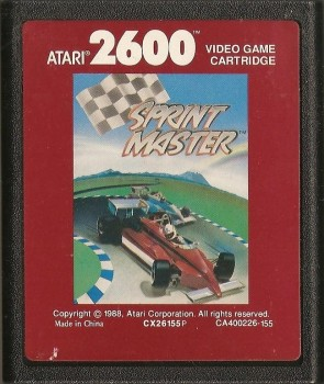 Sprint Master - Atari 2600 - Cartridge Only - 1988