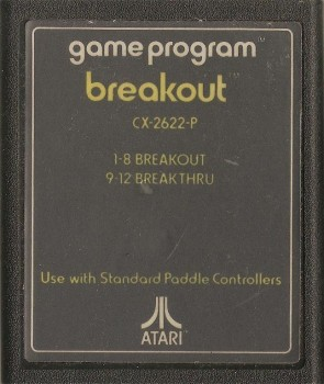 Breakout - Atari 2600 - Cartridge Only - 1982