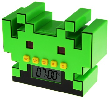 Space Invaders Alarm Clock - NEW