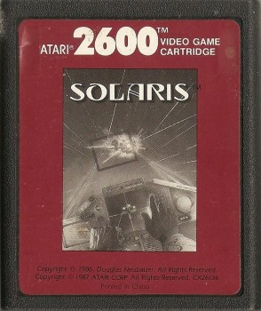 Solaris - Atari 2600 - Cartridge Only - 1986