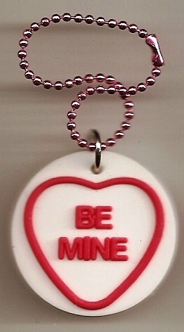 Swizzels Matlow - Love Hearts Mobile Phone Charm / Tag - Be Mine - NEW