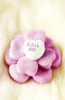 """Call Me"" Candy Heart Postcard - NEW"
