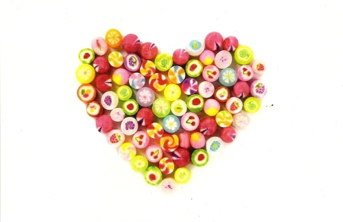 Candy Heart Postcard [1] - NEW