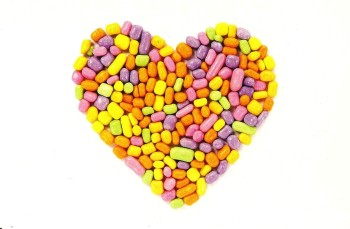 Candy Heart Postcard [2] - NEW