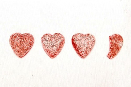 Gummy Candy Hearts Postcard - NEW