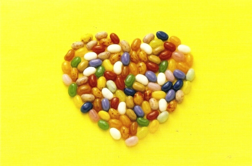 Heart-Shaped Jelly Beans Postcard - NEW