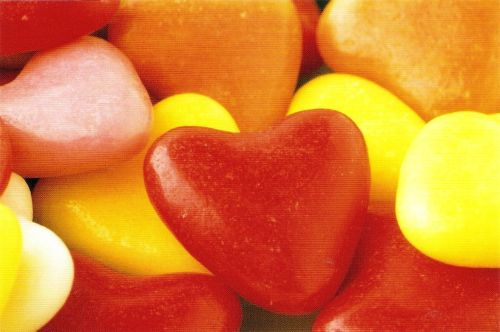 Heart-Shaped Sweets Postcard [1] - NEW