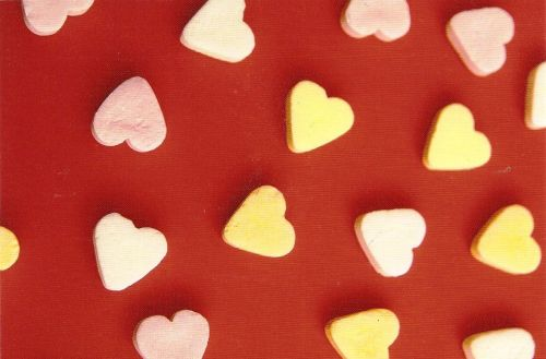 Heart-Shaped Sweets Postcard [2] - NEW