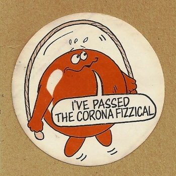 Corona Soft Drinks - Orangeade Sticker - Skipping Rope
