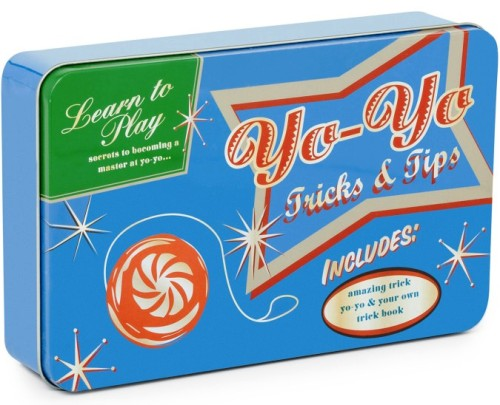 - Learn To Master The Yo-Yo Set In Retro Style Tin - NEW
