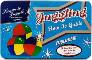 Learn To Juggle Set In Retro Style Tin - NEW