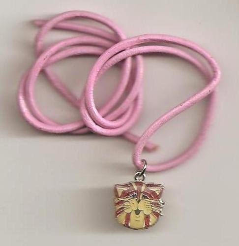 Bagpuss Pendant On Pink Cord - Face - NEW