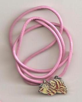 Bagpuss Pendant On Pink Cord - Lying Down - NEW