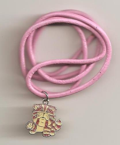 Bagpuss Pendant On Pink Cord - Sat Up - NEW